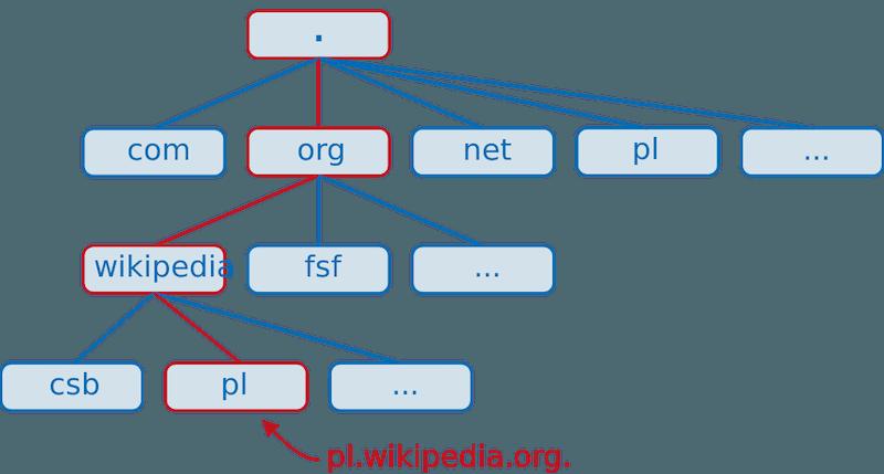 wpis - co tojest domena internetowa ijak działa - schemat domeny DNS